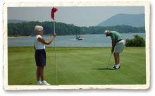 Golfing at Smith Mountain Lake